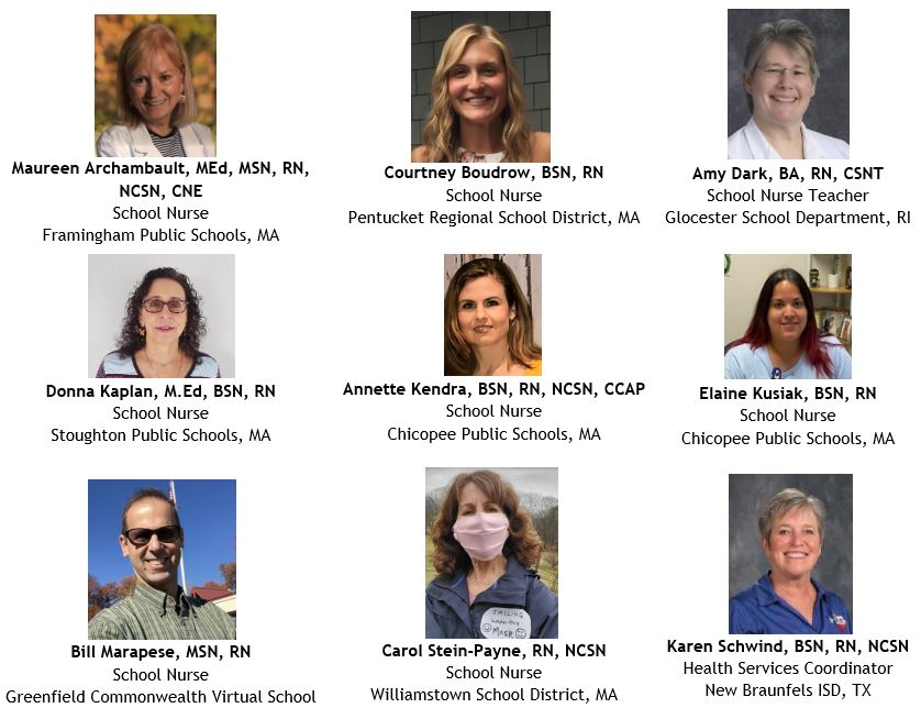 9 presenters COVID webinar virtual health teaching (1)